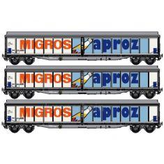 LS MODEL 37107 SBB Habis-X Migros Aproz Set mit 3 Waggons H0