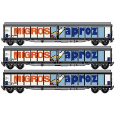 LS MODEL 37110 SBB Habis-X Migros Aproz Set mit 3 Waggons H0