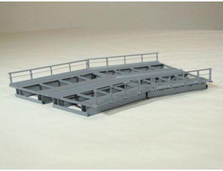 HACK R12-30 Brückenelement für Kurven · 2 Gleisig R1/R2 360/437mm 30°