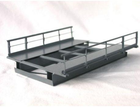 HACK R2 Brückenelement für Kurven · R2 437 mm 15°  8,5 cm, Höhe: 3 cm