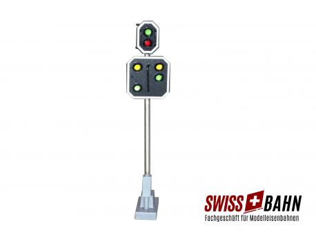 Schneider 2202 SBB Hauptsignal mit Vorsignal Höhe 66 mm