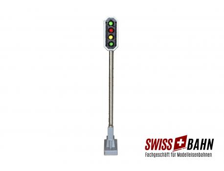 Schneider 2205 SBB Hauptsignal 4 LED. grün/rot/gelb/grün Höhe 72 mm