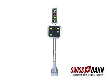 2206 Schneider SBB Hauptsignal mit Vorsignal 8 LED