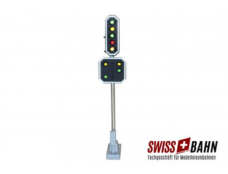 Schneider 2208 SBB Hauptsignal mit Vorsignal 9 LED