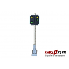 Schneider 2209 SBB Vorsignal Höhe 55 mm 4 LED. 2gelb/2grün