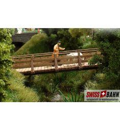 Busch 1497 Romantische Holzbrücke mit Brückenkopf H0