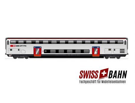 HAG 61028 SBB Doppelstockwagen IC 2000 / 2.Klasse mit Inn. Bel.