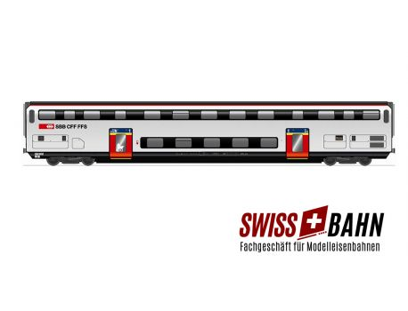 HAG 61041 SBB Doppelstockwagen IC 2000 / 1.Klasse mit Inn. Bel. DC