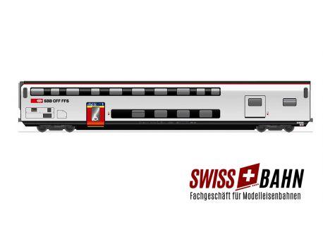 HAG 61099 SBB Gepäckwagen IC 2000 / mit Innenbeleuchtung DC