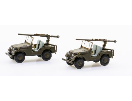 005103 CH Armee - Set mit 2 Jeep PAK58 - Pz Abwehr Kompanie - BAT