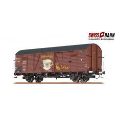 """BRAWA 48741 DR Gedeckter Güterwagen Glr """"Melitta"""", Epoche II"""