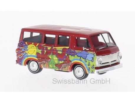 Brekina 34319 Dodge A 100 Bus, Hippie Bus - 70er Cultbus H0