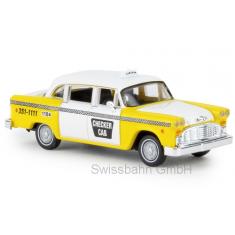 Brekina 58924 Checker Cab, Atlanta, Taxi Fahrzeug Atlanta USA - H0