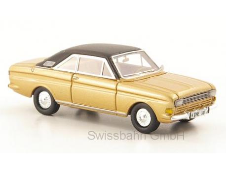 NEO 87331 Ford Taunus P6 15M Coupe, gold/matt-schwarz, H0