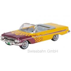 Oxford 87CI61004 Chevrolet Impala Convertible, gelb/metallic-violett Hot Rod