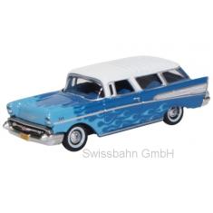 Oxford 87CN57005 Chevrolet Nomad, blau/hellblau Hot Rod- H0