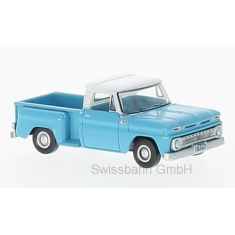 Oxford 87CP65001 Chevrolet Stepside Pick Up, hellblau/weiss 1:87