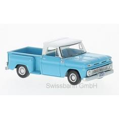 Oxford 87CP65001 Chevrolet Stepside Pick Up, hellblau/weiss H0