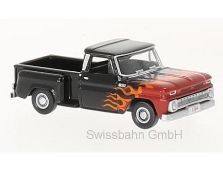 Oxford 87CP65004 Chevrolet Stepside Pick Up, schwarz/Dekor 1:87