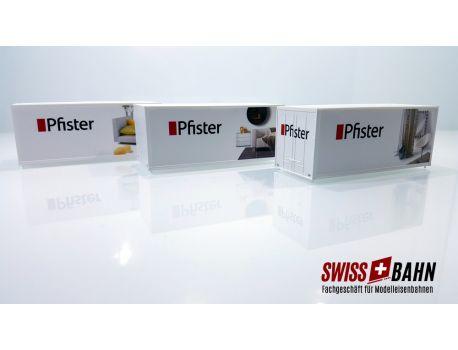 PIKO 4682.0 Frachtcontainer Möbel Pfister - 3 Stück, 3 Sujets H0