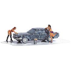 Busch 07824 Car Wash mit Bikini Girls - Bausatz - H0