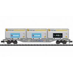 Minitrix 18405 SBB Containertragwagen KKIOSK - Sgnss (N)