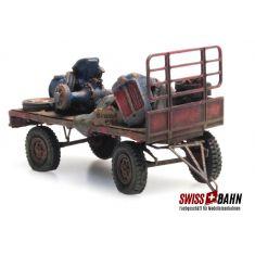 ART 487.601.03 LKW Anhänger mit Schrott ( RIP Serie) H0