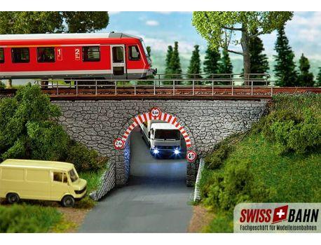 Faller 120498 Steinbogenbrücke, Eisenbahnbrücke H0
