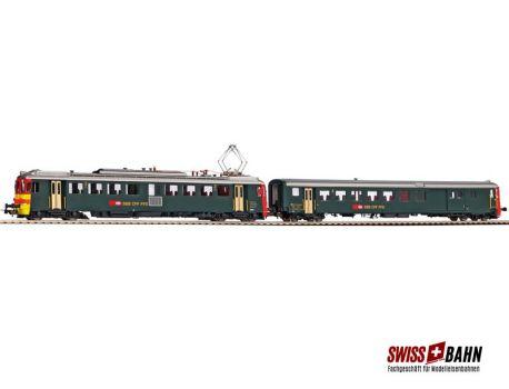 PIKO 96832 SBB RBe 4/4 Seetal Triebw. + BDt grün/rot DC
