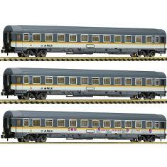 """Fleischmann 881901 Eurofima-Wagen, alex - Set. 3-tlg. """"N"""""""