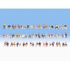 NOCH 16071 Mega-Spar-Set 60 Sitzende Figuren - H0