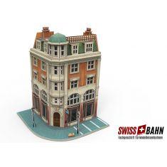 Märklin 72783 Märklin 3D Gebäude-Puzzle - Eckhaus mit Bank H0