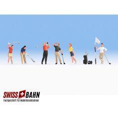 NOCH 15885 Golfer, Set mit 6 Figuren und Zubehör