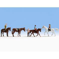NOCH 15630 Reiterinnen und Reiter - Pferde H0