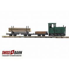 Busch 12003 Waldbahn Start-Set LKM, Ns2f -H0f