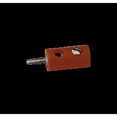 BRAWA 3004.1 Querlochstecker, ∅ 2,5 mm, brau, 10 Stück