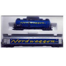 Märklin 47882 SJ 2er-Set Güterwagen, Nordwaggon