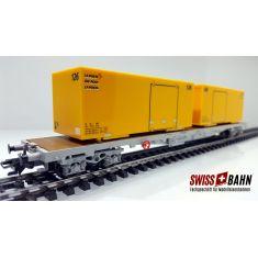 HAG 600-519 Flachwagen Sgs SBB mit Container der Schweizer Post