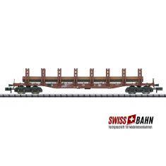 Minitrix 15484.3 Doppelrungenwagen Snps 719, Stahltransport