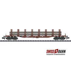 Minitrix 15484.4 DoppelrungenwagSnps 719, Stahltransporten