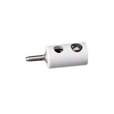 BRAWA 3009 Querlochstecker, ∅ 2,5 mm, Weiss, 10 Stück