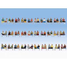 NOCH 16072 Mega-Spar-Set 60 Sitzende Figuren - H0