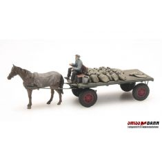 ARTITEC 387.276 Kohlenwagen mit Pferd - Fertigmodell H0