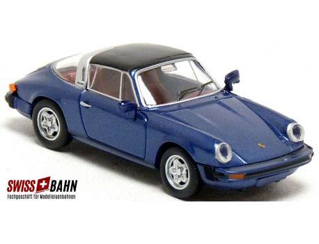 BREKINA 16364 Porsche 911 Targa, metallic-dunkelblau, H0