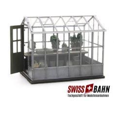 ARTITEC 387284 Gewächshaus, Pflanzenhäuschen- Fertigmodell H0