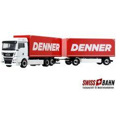 HERPA 946612 MAN TGX XLX Euro6c Kofferhängzug - Denner Schweiz