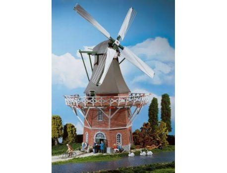POLA 331701 Grosse niederländische Windmuehle. Mit gemauertem Unterbau