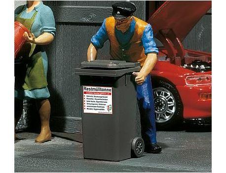POLA 333205 -  2 Mülltonnen grau handbemalt
