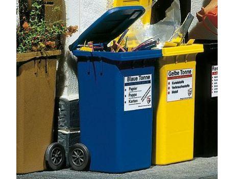 POLA 333206 - 2 Mülltonnen blau handbemalt