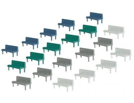 Faller 180441 Bänke in versch. Farben 20 Stück